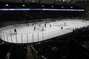 The Mississippi RiverKings defeating the Huntsville Havoc on Feb. 14.