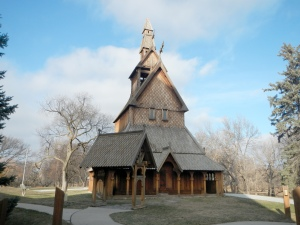 The Moorhead stave church.